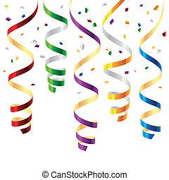party, luftschlangen