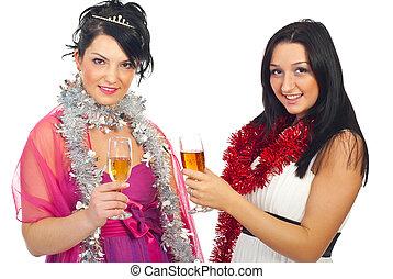 party, weihnachten, frauen