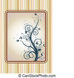 Pastellfarbener Blumenrahmen