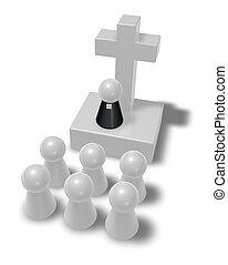 Pastor und Christian Cross