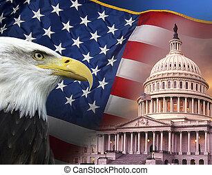 Patriotische Symbole - Vereinigte Staaten von Amerika.