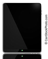 pc computer, schwarz, tablette