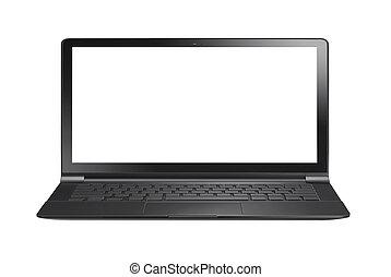 pc laptop computer, freigestellt