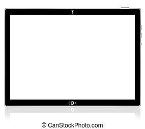 pc, tablette, computer., leer