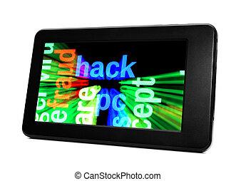 pc, tablette, hacken