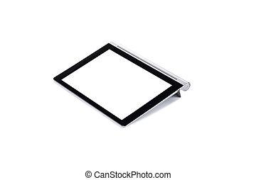 pc, weißes, freigestellt, tablette
