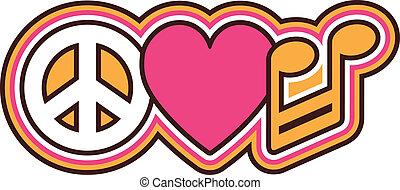 """""""Peace Love"""" -Symbole"""
