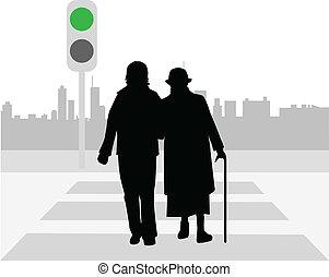 Pedestrian-Übergang.