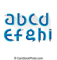 Pencil Alphabet.