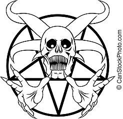 Pentagramm - Zeichen der Hölle.