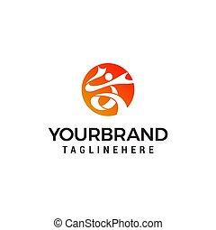 People sport logo design concept template vektor.