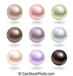 Perlen verschiedener Farben
