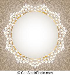 Perlenrahmen.