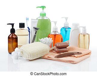Persönliche Hygieneprodukte.
