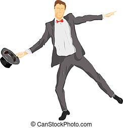 person, springende , professionell, geschaeftswelt