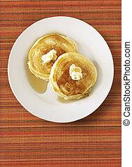 Pfannkuchen auf Format