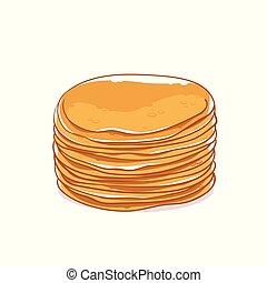 Pfannkuchen ohne Füllen