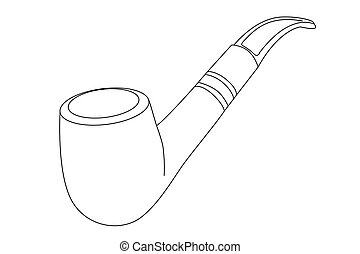 pfeife, vektor, tabak