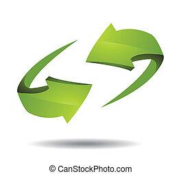 Pfeil 3d Icon Vektorgrafik.