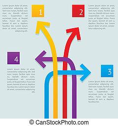 Pfeile wie Infographics