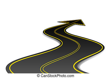 Pfeilförmige Straße
