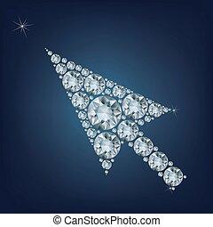 Pfeilkurven bilden eine Menge Diamanten.