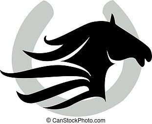 pferd, design, schuh, &