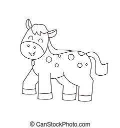 Pferd für Farbbuch.