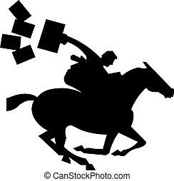 pferd, jockey, silhouette, illustration., jockey., springende , vektor, reiten, rennsport, horse.