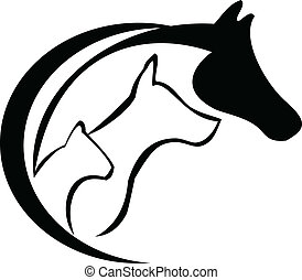 Pferd, Katze und Hund