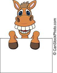 Pferd mit leerem Zeichen