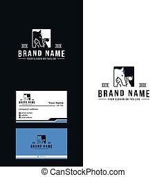 pferd, prämie, design, katz, logo, hund, vektor, luxus