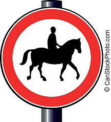 Pferd und Reiterzeichen