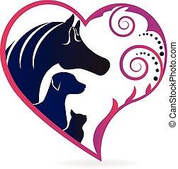 Pferdekatze und Hundeherz lieben das Logo.