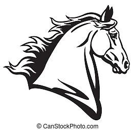 Pferdekopf.