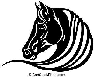 pferdekopf, schwarz