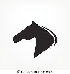 Pferdekopf - Vektorgrafik.
