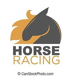 Pferderennen Emblem.