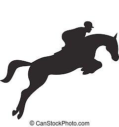 Pferdesilhouette Vektor