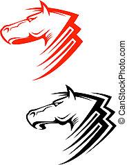 Pferdesymbole.