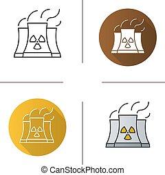 pflanze, nuklear, ikone, macht