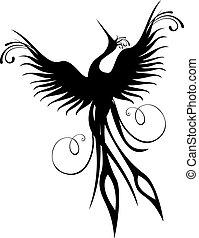 Phoenix Vogelfigur isoliert