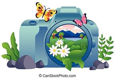 photographie, natur, begriff