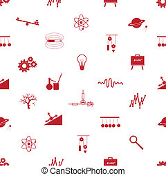 Physik Icons nahtlose Muster eps10.