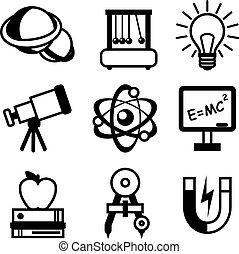Physik-Symbole.