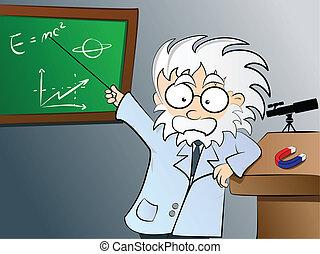 Physiklehrer in der Klasse
