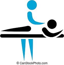physiotherapeut, masseur, ikone