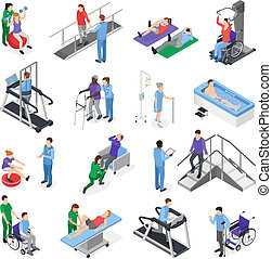 Physiotherapie Rehabilitation isometrische Set.