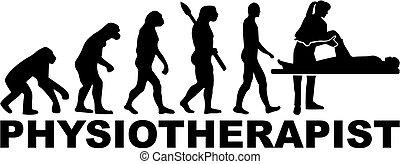 Physische Therapeuten Evolution mit Berufstitel.