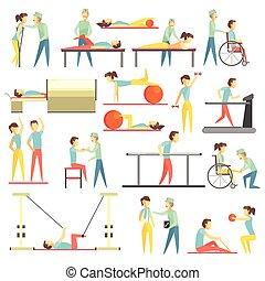 Physische Therapie infographische Abbildung.